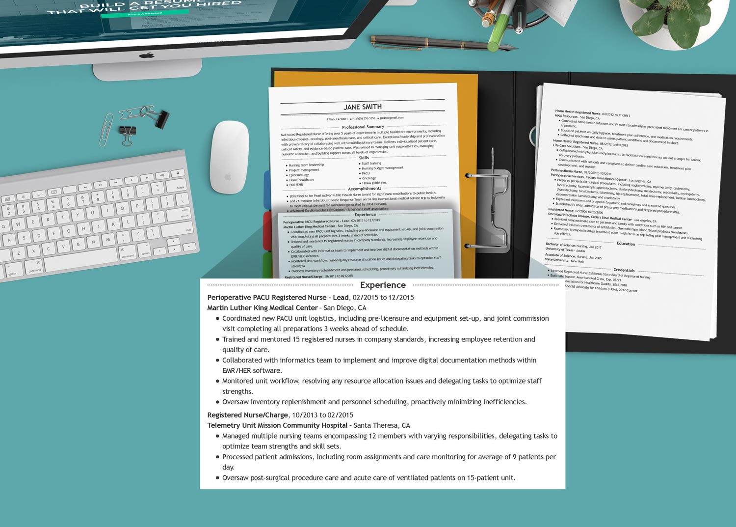 nurse resume writing: the experience section