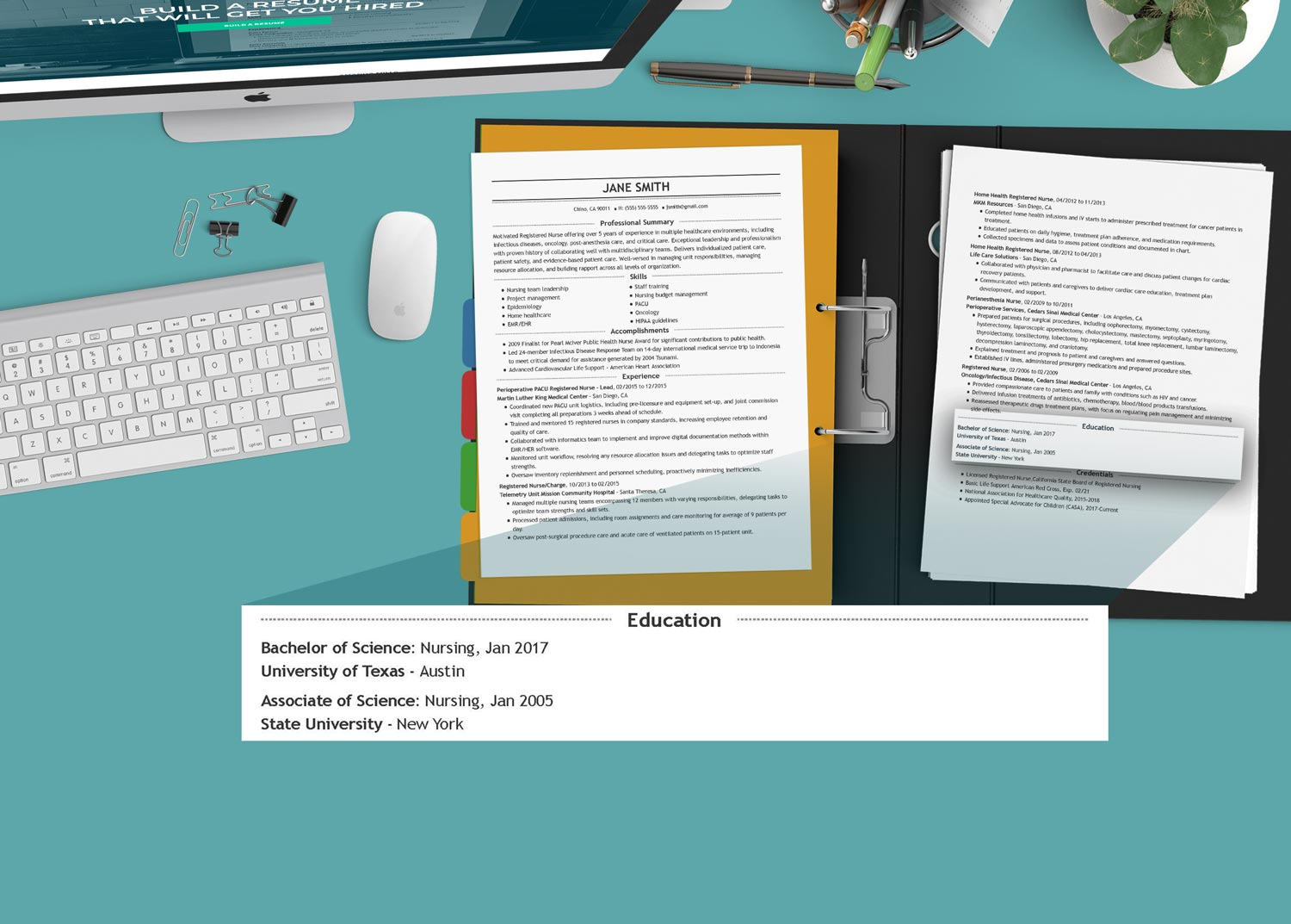 nurse resume writing: the education section